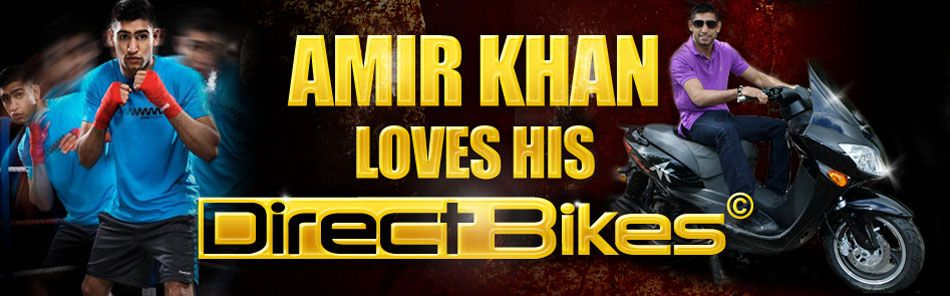 Amir Khan loves his Direct Bikes Motorcycle