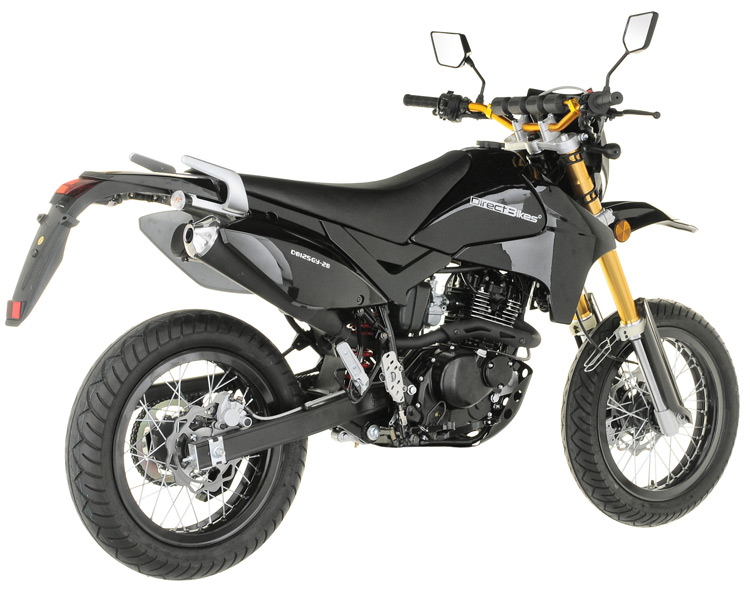 125cc motorcycle 125cc direct bikes enduro s motorcycle black. Black Bedroom Furniture Sets. Home Design Ideas